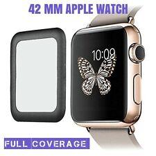 Vidrio templado genuino cobertura completa Protector de pantalla para APPLE WATCH 42MM Negro