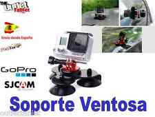 Soporte Ventosa Triple Vídeo Cámara gopro o SJ5000 SPORT CAM  Deportiva