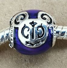 Disney Parks Purple Mickey Mouse Filigree Magical Day Plated European Bead Charm