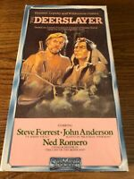 The Deerslayer VHS VCR Video Tape Movie Steve Forrest Used