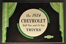 1934 Chevrolet Truck Brochure Pickup Panel Stake Nice Original 34 Not a Reprint