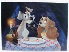 Disney WonderGround Bella Notte Bill Robinson 5x7 Postcard - Lady and the Tramp