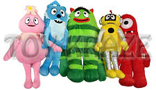 "YO GABBA GABBA PLUSH BACKPACK SET! MEDIUM SOFT FIGURES 18-20"" NEW [5 PC]"