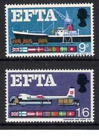 GB 1967 sg715-16 EFTA European Free Trade Association ordinary set MNH