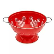 Disney Eats Store Mickey Mouse Icon Red Colander Metal Kitchenware Cooking New