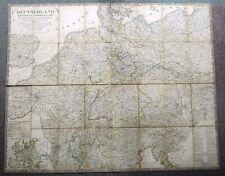 1847 Old Map Netherlands Belgium Germany Switzerland Austria Suisse Deutschland
