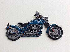 D051 // ECUSSON PATCH AUFNAHER TOPPA / NEUF / MOTO TYPE HARLEY BLEUE 11*6 cm