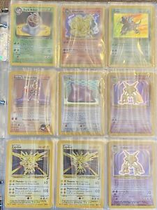 Vintage Pokemon Card Lot
