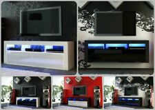 NEW 2020! Superb TV Stand Unit Cabinet 130cm + Floating /Standing + Gloss + LED