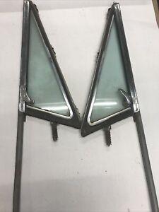 67 68 69 70 71 72 Chevy C10 GMC Truck R & L tint Vent Window Frame Chrome  PAIR