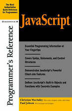 JavaScript Programmer's Reference, By ,in Used but Acceptable condition