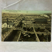 Vintage 1914 Cattle Division Union Stock Yards Postcard South Omaha Nebraska