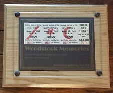 Woodstock 3 Day 1969 Ticket/Pass Jimi Hendrix, Janis Joplin, Grateful Dead, Who