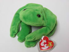 Ty Beanie Baby Legs Green Frog PRISTINE Mint Tags, 4th generation Swing/4th Tush