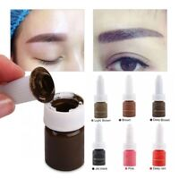 Microblading Permanent Makeup Tattoo Ink Kit Lip Eyebrow Pigment Set 10ML/Bottle