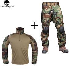 Emerson Tactical Combat Gen3 Shirt + Pants Suit Airsoft BDU Uniform w/ Knee Pads