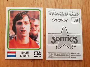 Panini WM 1974 World Cup München 74 sticker Johan Cruyff #89 WorldCup Story 1990