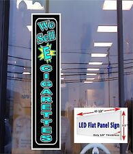 LED sign We Sell E  Cigarettes 48x12 window sign neon banner alternative Led