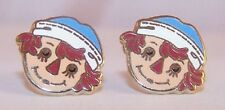 Raggedy Andy Jewelry Earrings Stud Collector Storybook Ear Rings Post
