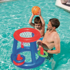 Giant Inflatable Floating Basketball Hoop & Blow Up Ball For Swimming Pool Water