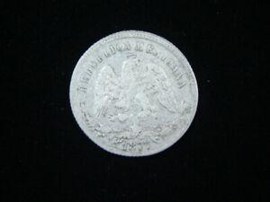 Mexico 1877 Zs S Silver 25 Centavos VF KM#406.9