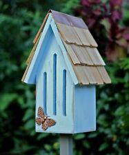 "Butterfly Houses - ""Kelmscott Gardens"" Butterfly House - Sky Blue - Garden Decor"