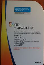 Microsoft Office 2007 Professional / Vollversion / deutsch / MLK / PKC 269-13719