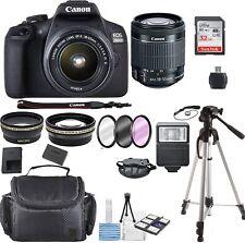 Canon EOS 2000D / Rebel T7 24.1MP  DSLR Camera + 18-55mm Lens-15PC Bundle