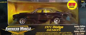 BLACK 1971 DODGE DEMON DEFECTIVE PROJECT CAR ERTL 1:18 SCALE DIECAST MODEL CAR