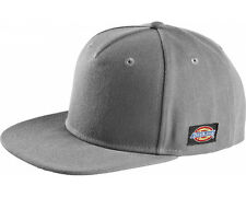 NEW MENS DICKIES GREY SNAP BACK BASEBALL CAP HA8013 PREMIUM QUALITY