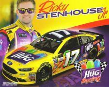 """2017 RICKY STENHOUSE JR """"LITTLE HUG RACING"""" #17 MONSTER ENERGY NASCAR POSTCARD"""