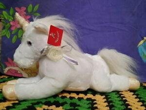 *Snowy White plush laying UNICORN* by Aurora