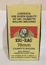 12pcs Zig Zag 78 mm Cigarette Rollers. Rolls Perfect Cigarettes Every Time.