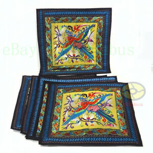 """square 18""""x18"""" Chinese Hmong Phenix Embroidery Canvas Cushion Cover/Pillow Case"""