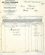 Alte Rechnung 1927 Frankreich französisch Lacanche Cote-d-Or Cost-Caumartin