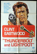 THUNDERBOLT AND LIGHTFOOT Original One sheet Movie poster CLINT EASTWOOD