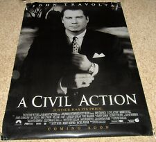 A Civil Action Movie Poster 2 Sided John Travolta Robert Duvall Stephen Fry 1998