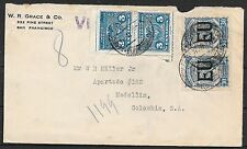 United States covers 1925 EU ovpt Scadta stamps on SCADTAcover to Medellin