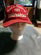 Vintage NHRA Winston Drag Racing 1985 WWCS Cedar Falls Raceway Winner Mesh Hat