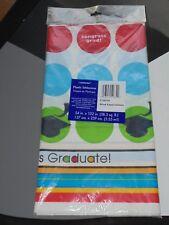 Congratulations Graduate Dots Plastic Party Table Cover 54 x 102 NEW Decor