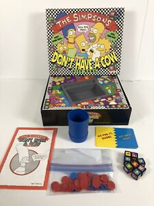 The Simpsons Don't Have A Cow Dice Game 1990 Milton Bradley USED READ
