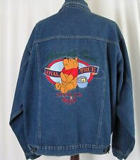 Winnie the Pooh Denim Jean Jacket Disney Story Silly Old Bear Size L Large NWT