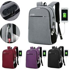 "Multifunction 16"" Laptop Men Women Backpack Canvas Anti-Theft USB Charging Bag"