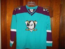 Vintage 1990's Anaheim MIGHTY DUCKS Disney NHL Hockey Jersey Youth sz M