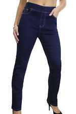 Womens Jeggings Style Jeans Stretch Denim Elasticated waist Indigo Blue Size 12