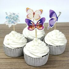 Butterflies Cupcake Muffin Topper Cake Decor Kids Birthday Party Favors 12 Pcs