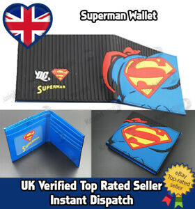 Superman Wallet Textured Rubber (Tyre) outer- PU Leather Inner DC comics XMAS