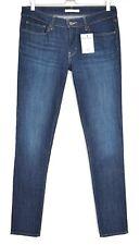 Levis 711 SKINNY Dark Blue Indigo Mid Rise Stretch Jeans Size 12 W30 L34