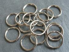 50 X 15 Mm De Metal Split Llaveros De Plata Con Llavero Aro bucle vendedor Reino Unido (ffc5100)