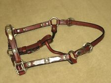 NWOT Vintage BILLY ROYAL Western Show Halter w/ BEAUTIFUL ALPACA SILVER~Weanling